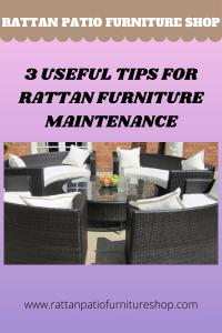 3 Useful Tips for Rattan Furniture Maintenance