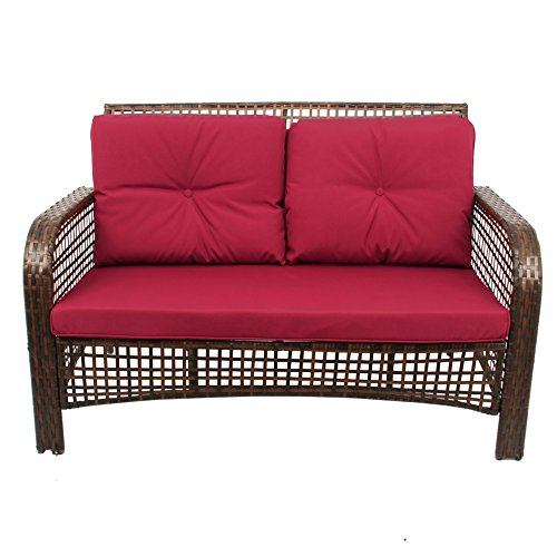 4 Pcs Outdoor Patio Sofa Set Sectional Furniture Pe Wicker