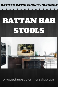 Rattan bar stools are increasingly becoming popular for use in homes not only because they help conserve space but also because they are fashionable, affordable and durable