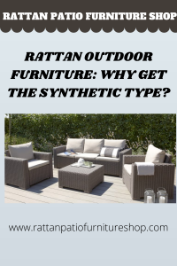 Fortunately, in the market today are several synthetic rattan that is made up of artificial material that looks like rattan but endures long years of beauty even when left under the cold and warm weather most of the time.