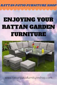 Enjoying Your Rattan Garden Furniture