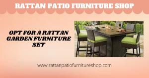 Opt for a Rattan Garden Furniture Set